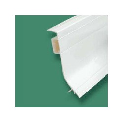Plinthe PVC fixat° cachée simple paroi
