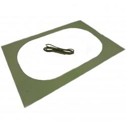 Gabarit de découpe et corde pour oculus 350 x 550