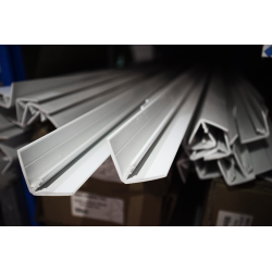 Profil d'agrafage PVC grand modèle